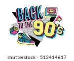 memphis poster  card or...   Shutterstock .eps vector #512414617