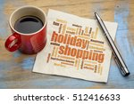 holiday shopping word cloud on... | Shutterstock . vector #512416633