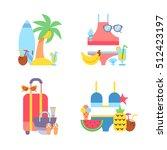 world travel. vacations. summer ...   Shutterstock .eps vector #512423197
