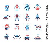 robots   set of modern vector...
