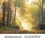 road in a beautiful colorful... | Shutterstock . vector #512425903