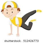little boy doing breakdance...