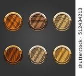 set of shiny sand  circle...