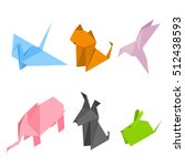 color origami animals set of... | Shutterstock .eps vector #512438593