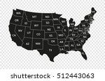 map of usa | Shutterstock .eps vector #512443063