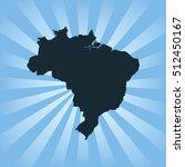 map of brazil | Shutterstock .eps vector #512450167