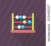 abacus icon   vector flat long...