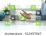 businessman working in office... | Shutterstock . vector #512457067