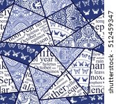 hand drawn seamless patchwork... | Shutterstock .eps vector #512459347