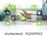 businessman working in office... | Shutterstock . vector #512459923