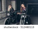 Sexy Biker Girls Sitting On...