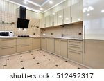 kitchen with appliances and a... | Shutterstock . vector #512492317