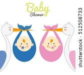 twins baby shower | Shutterstock .eps vector #512508733