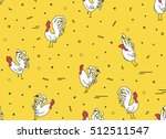 seamless pattern on a yellow... | Shutterstock .eps vector #512511547