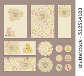 set of flyer  tag templates...   Shutterstock . vector #512514103