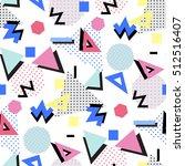 memphis seamless pattern of... | Shutterstock .eps vector #512516407