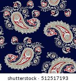 traditional indian paisley... | Shutterstock .eps vector #512517193
