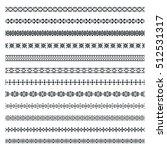 set of vector art dividers in... | Shutterstock .eps vector #512531317