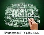 hello word cloud in different... | Shutterstock . vector #512534233