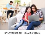 happy family relaxing at home... | Shutterstock . vector #512534833