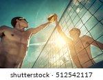 beach volleyball players in... | Shutterstock . vector #512542117