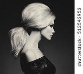 black and white fashion studio... | Shutterstock . vector #512543953