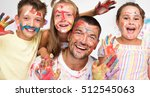 portrait of a cute happy father ... | Shutterstock . vector #512545063