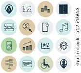 set of 16 universal editable... | Shutterstock .eps vector #512546653