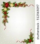 christmas decorative corner... | Shutterstock .eps vector #512565097