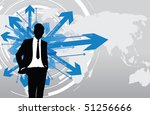business man deciding which way ... | Shutterstock .eps vector #51256666