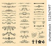 calligraphic vintage elements... | Shutterstock .eps vector #512567497