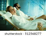 beautiful couple relaxing in... | Shutterstock . vector #512568277