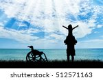 happy disabled child on... | Shutterstock . vector #512571163