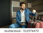 businessman on  business trip... | Shutterstock . vector #512576473