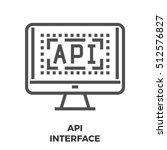 api interface thin line  icon...