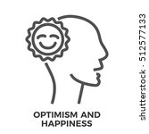optimism and happiness thin... | Shutterstock . vector #512577133