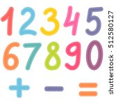 numbers from zero to nine and... | Shutterstock .eps vector #512580127