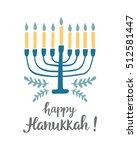 happy hanukkah greeting card...   Shutterstock .eps vector #512581447