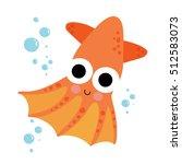 vampire octopus animal cartoon... | Shutterstock .eps vector #512583073