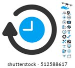 repeat clock pictograph with... | Shutterstock . vector #512588617