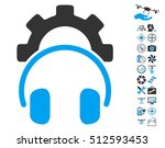 headphones configuration gear... | Shutterstock . vector #512593453