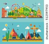 modern flat design conceptual... | Shutterstock .eps vector #512597953