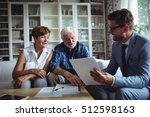 senior couple planning their... | Shutterstock . vector #512598163