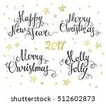 merry christmas lettering.... | Shutterstock .eps vector #512602873
