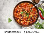 Chili Con Carne In A Clay Bowl...