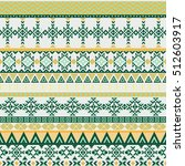 ethnic seamless pattern with... | Shutterstock .eps vector #512603917