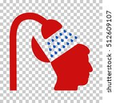 blue and red open mind shower... | Shutterstock .eps vector #512609107