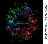 abstract vector iridescent... | Shutterstock .eps vector #512609557