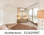 living room with city view near ... | Shutterstock . vector #512629087