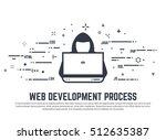 web development process.... | Shutterstock .eps vector #512635387